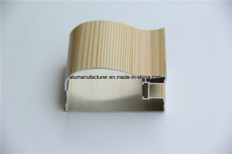Wooden Colour Aluminium Alloy Extrusion Profile for Door and Window