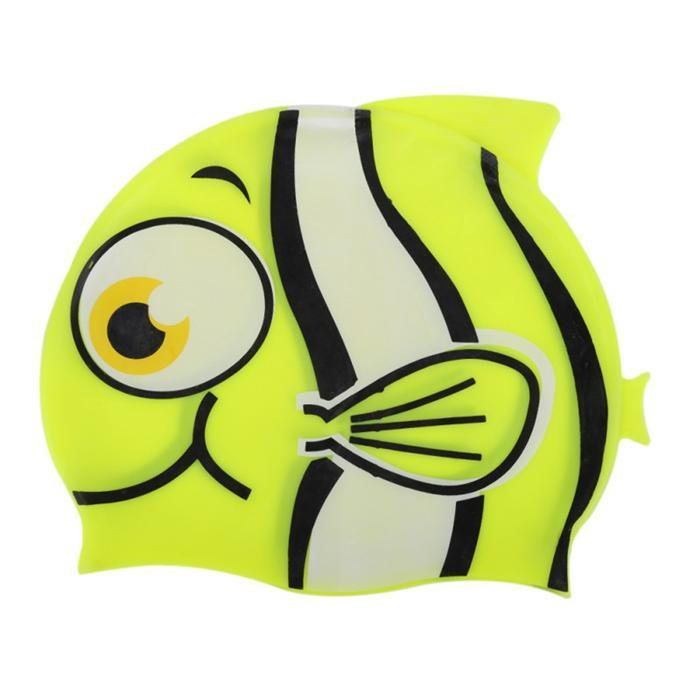 Unisex Kids Baby Boys Girls Cartoon Silicon Waterproof Swimming Cap