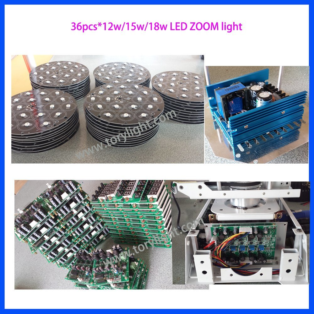 LED Zoom 36PCS*12W RGBW Moving Head Light