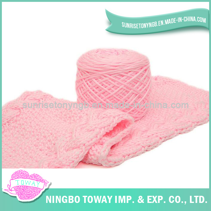 Hot Women Wholesale Cotton Long Knitted Pink Scarf