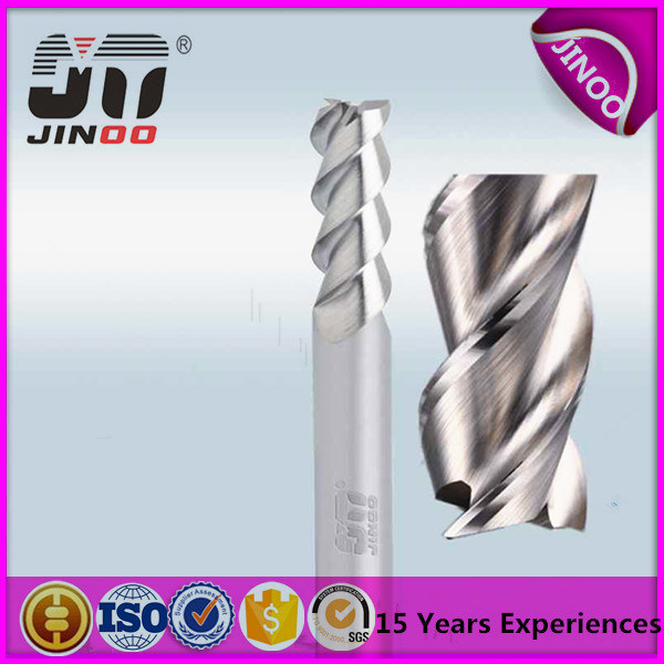 Solid Carbide Four Flute CNC Milling Tools Extra Long End Mills