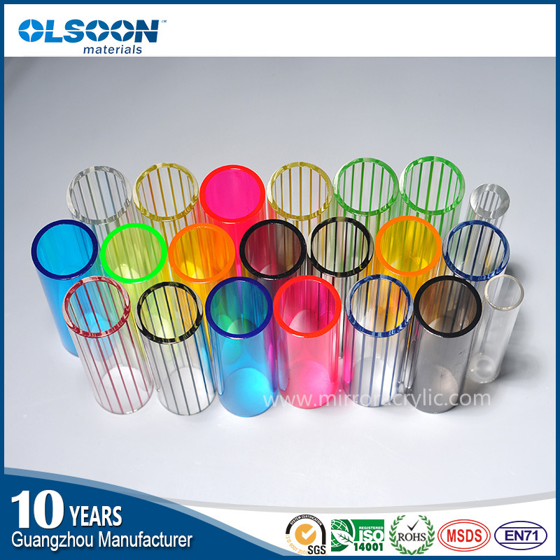 Olsoon Transparent Acrylic Tube Acrylic Bubble Tube Plastic Tube White Color Acrylic Tube
