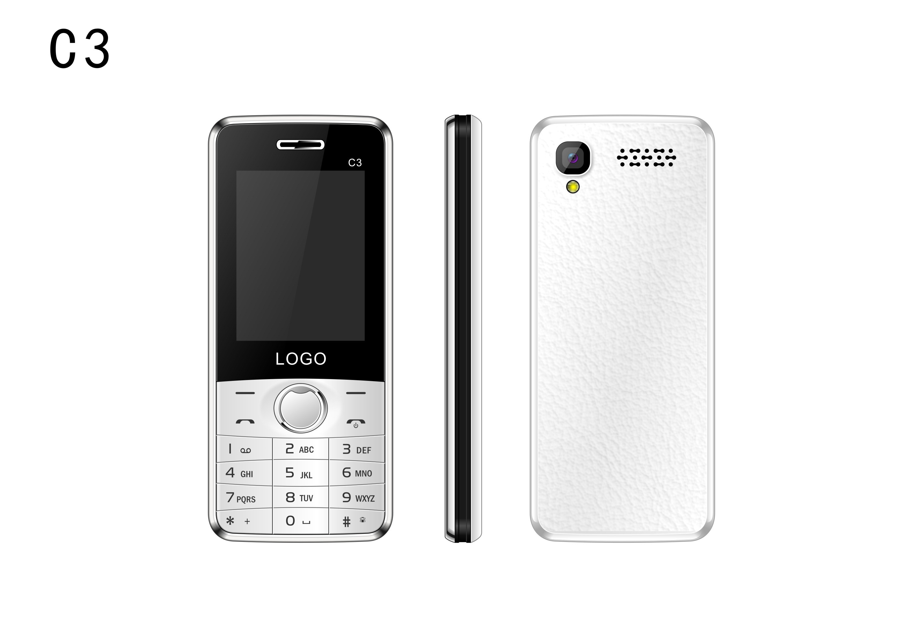 China Best Selling 2.4inch 2g GSM Feature Cell Phone for The Old C3