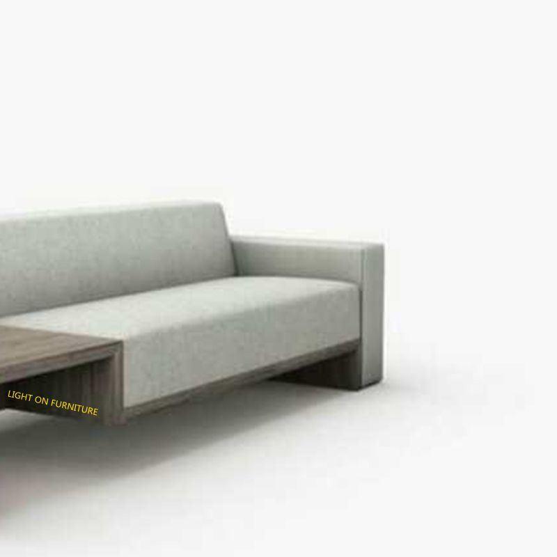 Wooden Frame Armrest Modern Fabric Sofas for Hotel (F1116#)