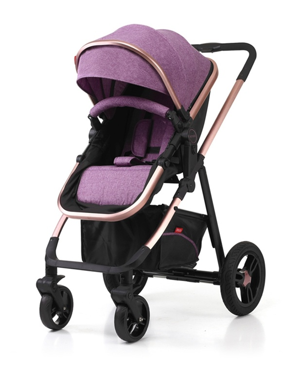 Aluminum Luxury European Fold Baby Stroller with Car Seat