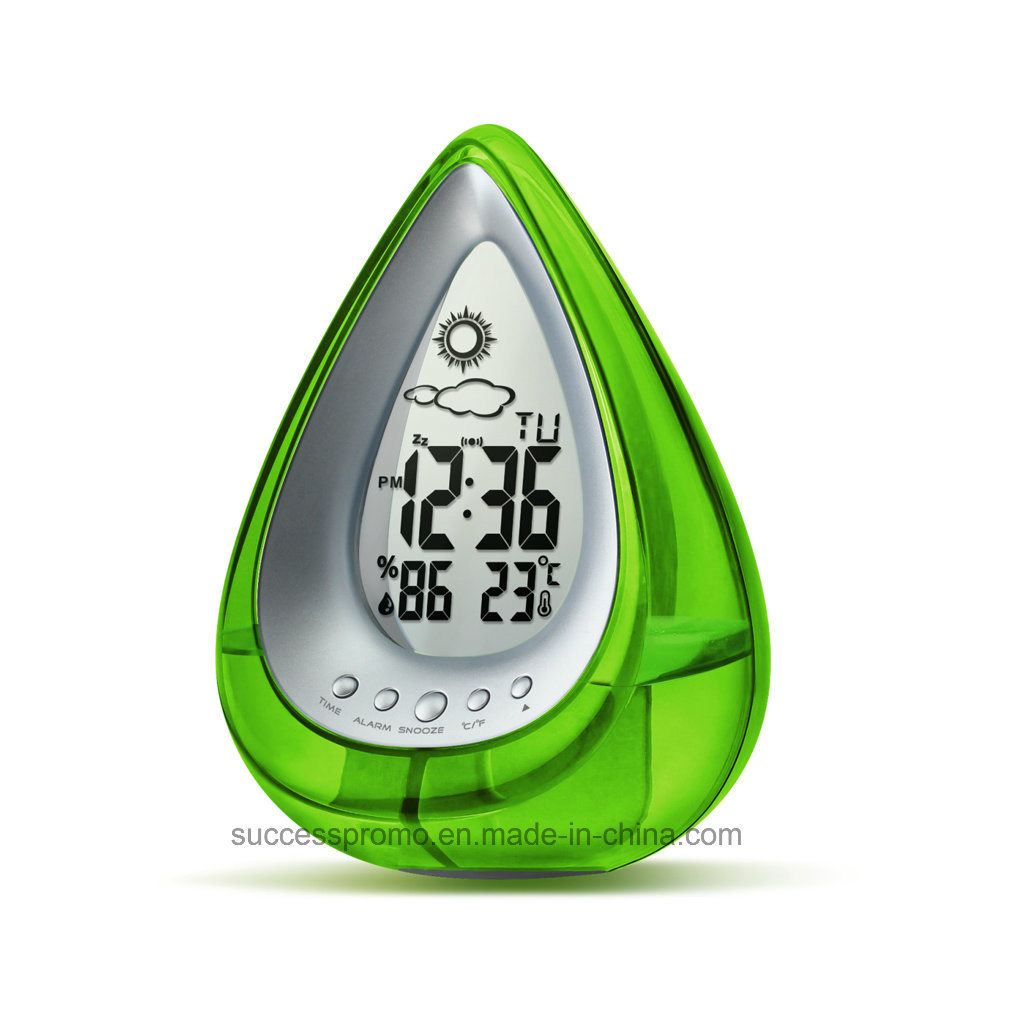 Novelty Gift Eco Friendly Multifunction Water Power Desk Clock