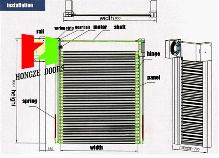 High Speed Roller Shutter Door Aluminium Profile (Hz-FC063)