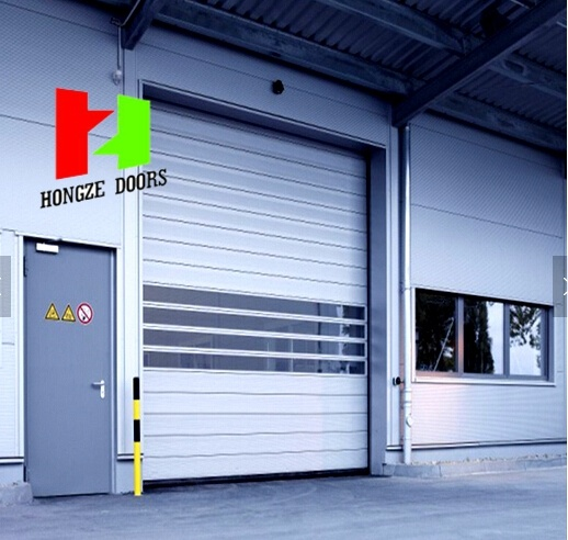 Aluminium Profile Steel Gates Overhead High Speed Roller Shutter Sectional Door (Hz-FC063)