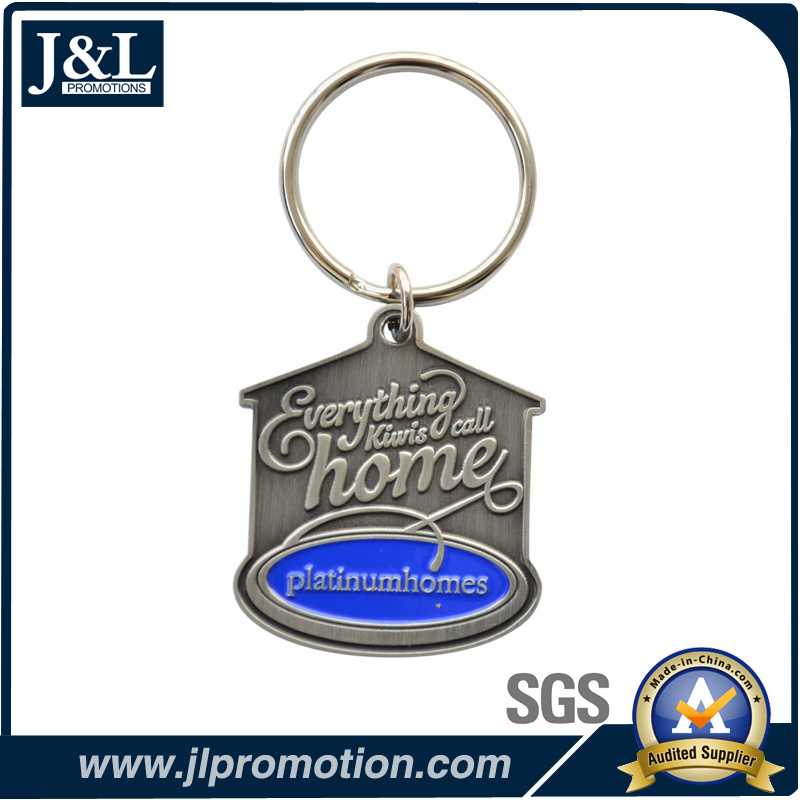 Die Casting Zinc Alloy Metal Keychain Antique Plating