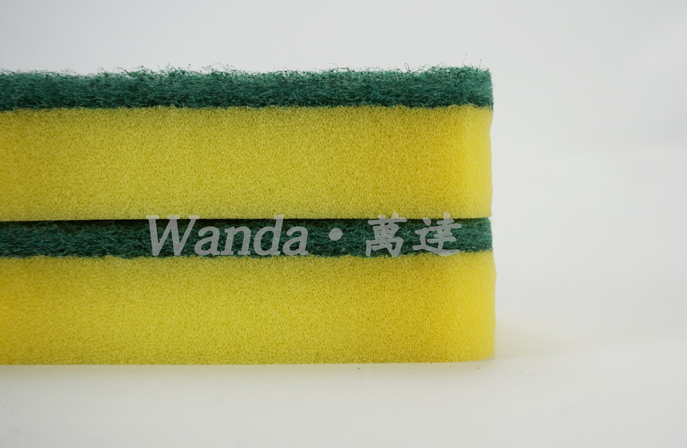 Wholesale Waist Shape High Density Cleaning Sponge Scourer for Kitchen