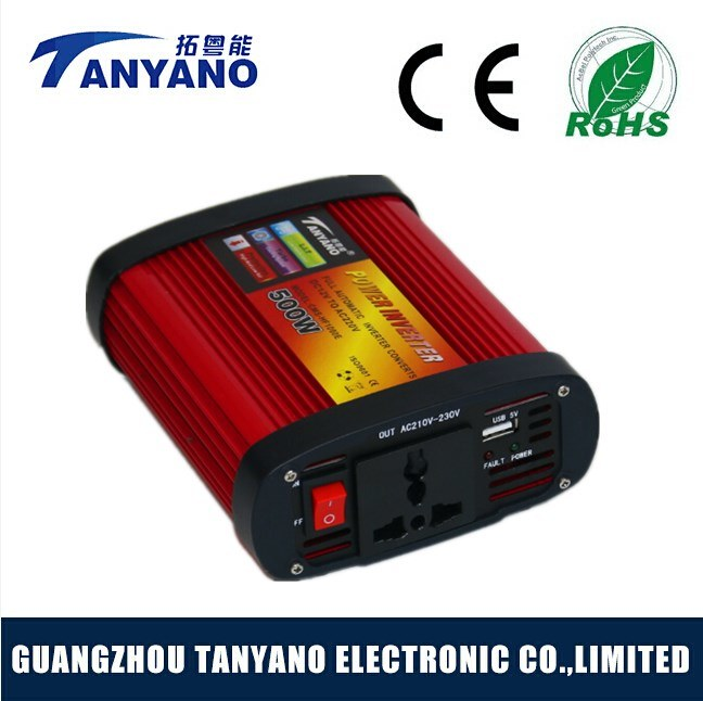 DC 12V to AC 110/220V 500watt Car Power Inverter with USB Modified Sine Wave Inverter
