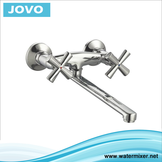 2016 New Style Double Handle Wall-Mounted Kitchen Mixer Jv 74405
