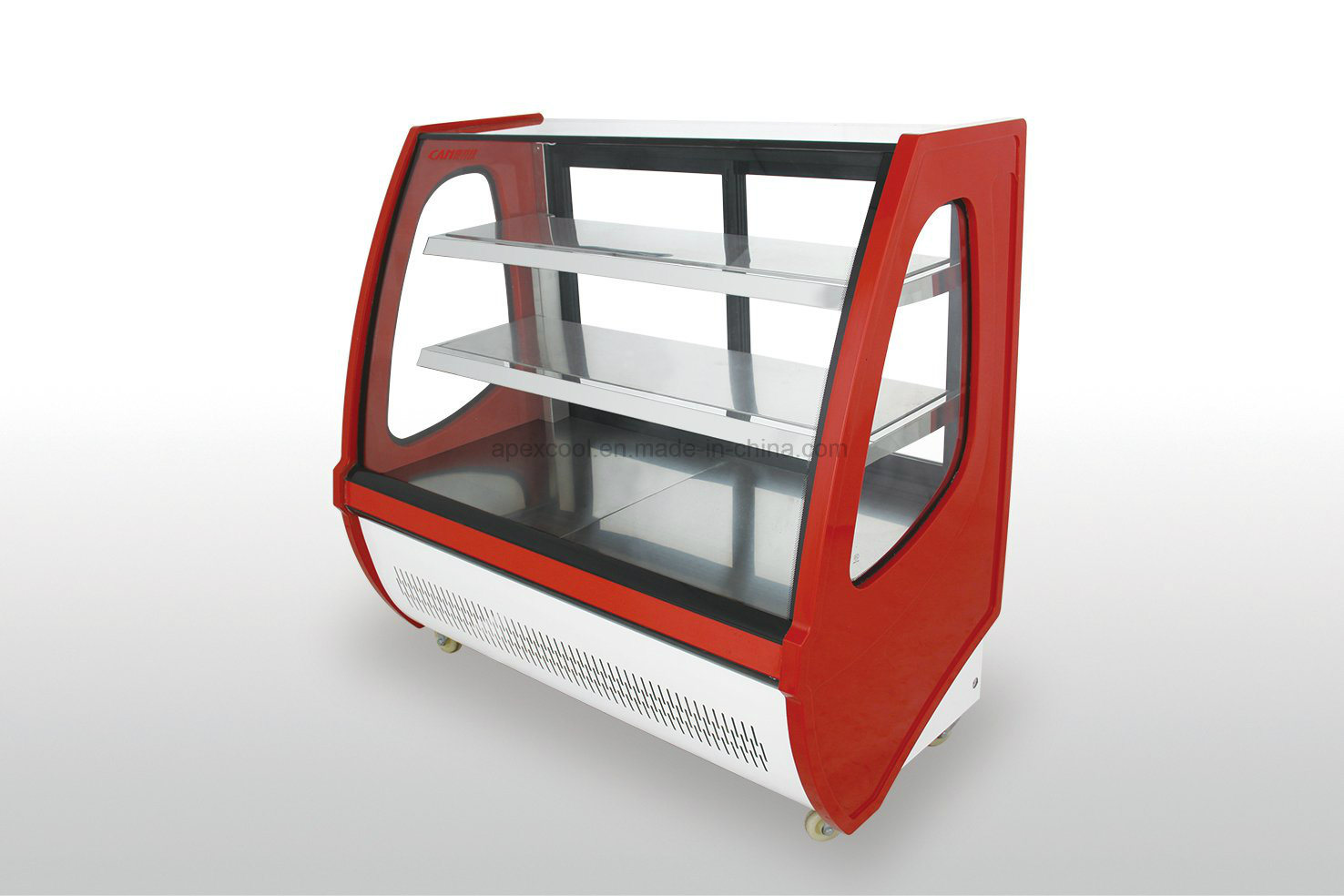 Two Shelf Bakery Display Pastry Cooler Showcase with Embraco Compressor