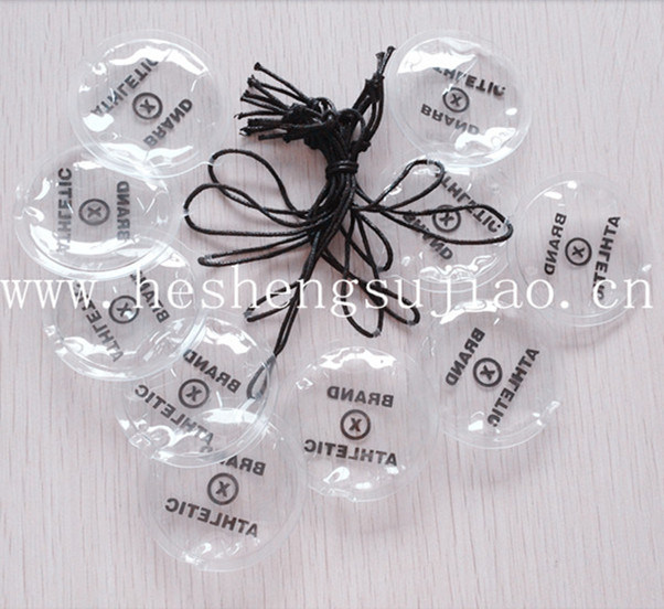 Hot Stamping Label Hang Tag, Plastic Tag for Clothing Accessiers