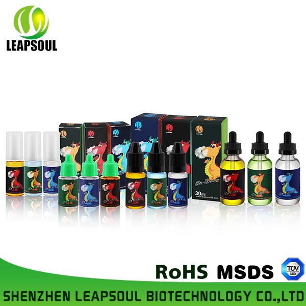 Custom Over 1000 Flavors 30ml Glass Bottle Cigarette E Liquid