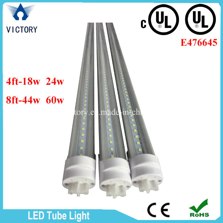 Single Row AC85-285V Warm White T8 18W LED Tube Light