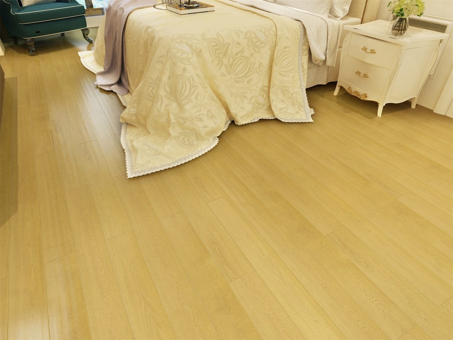 Thermal Insulation Multi-Layer Solid Wood Flooring for Kitchen