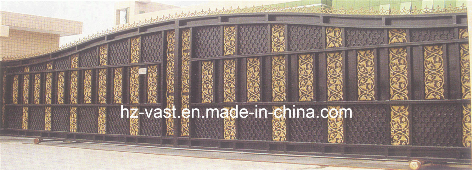 Haohan High-Quality Exterior Security Decorative Wrought Iron Fence Door 18