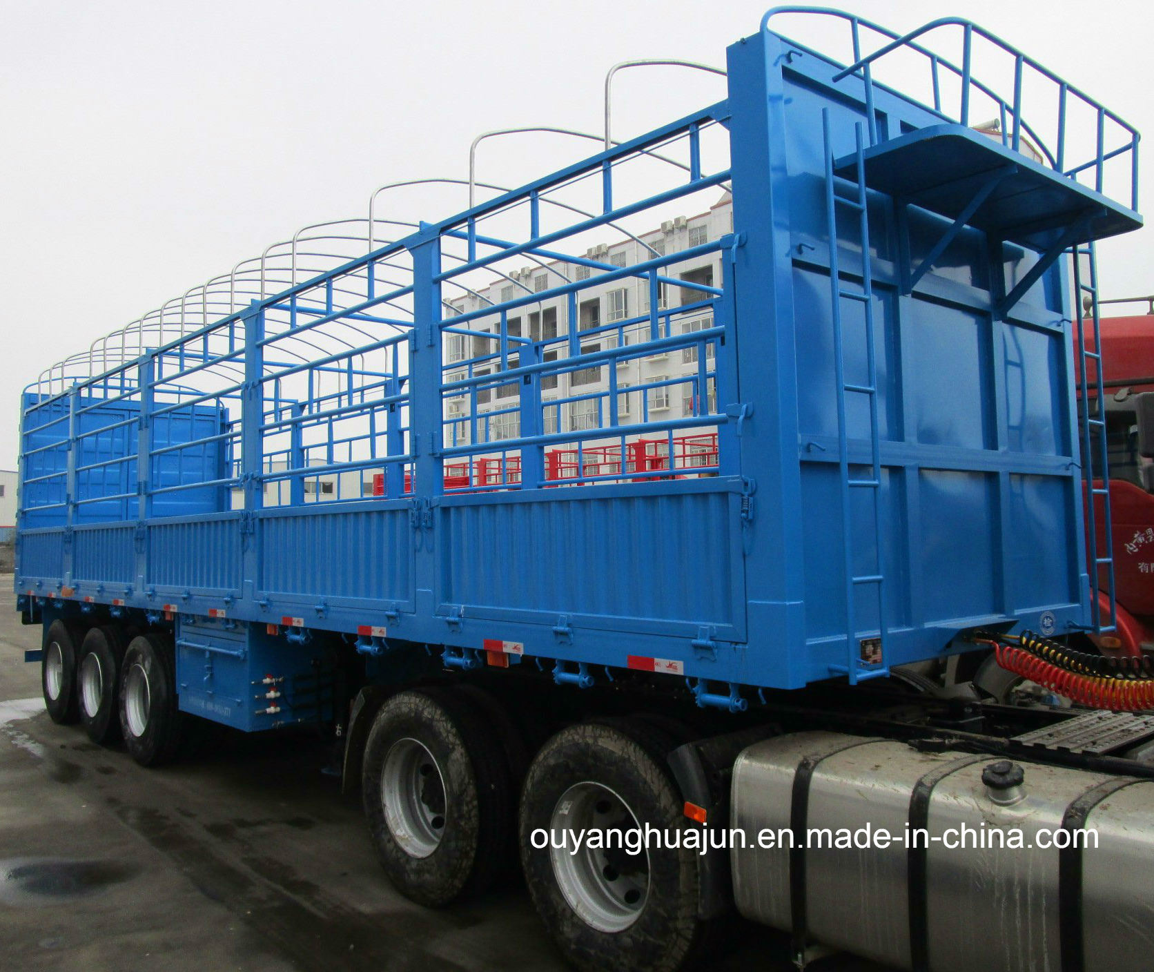 Super Light Warehouse Column Semitrailer