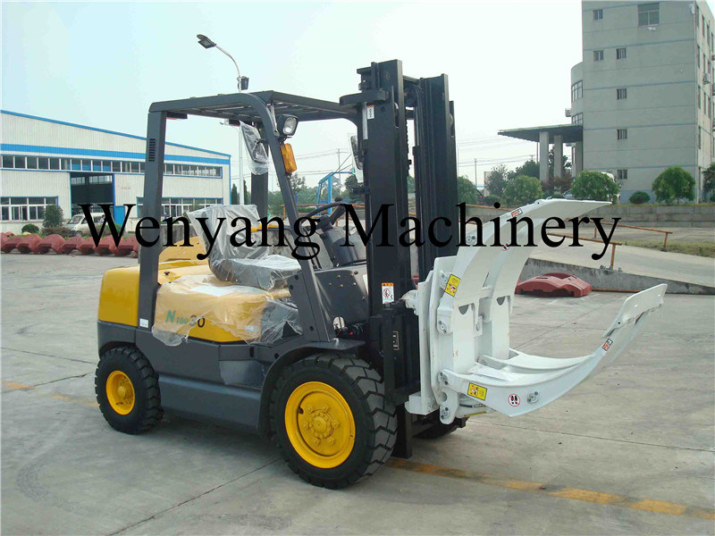 China 3ton Isuzu Diesel Forklift Truck with Paper Roll Clamps
