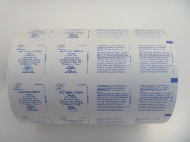 73 GSM Aluminum Foil Film with SGS Certificate for Alcohol Swab