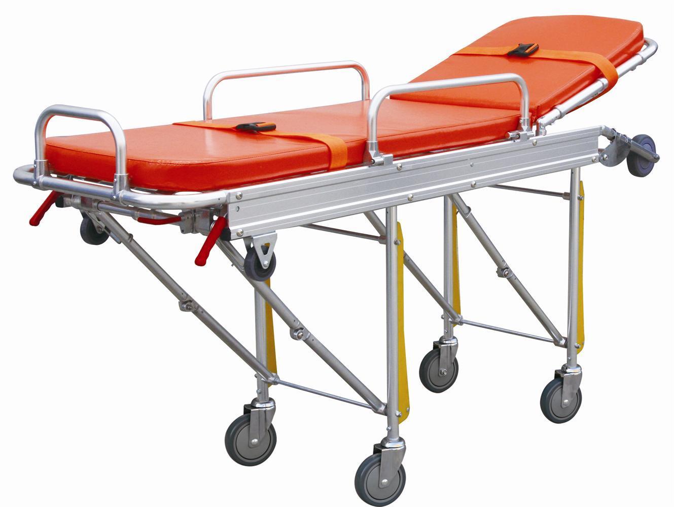 Medical Hospital Adjustable Aluminum Alloy Folding Emergency Ambulance Stretcher