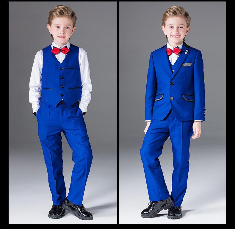 3 Piece Kids Fashion Boys Linen Suits