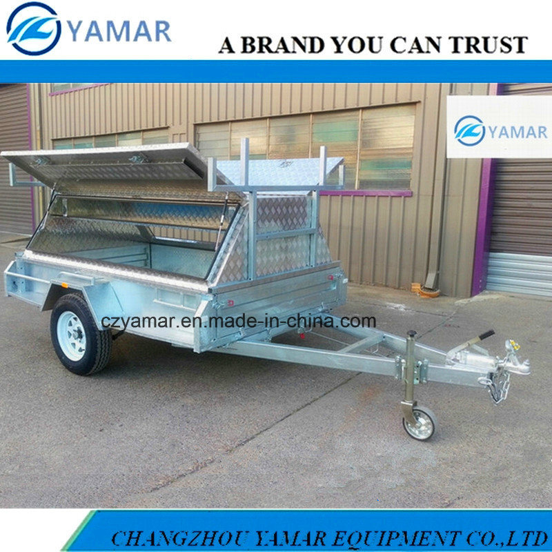 8X5 Fully Welded Box Trailer with Aluminum Tradesman Top
