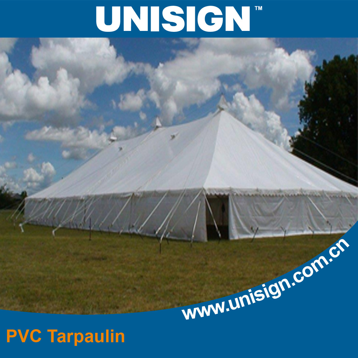 Waterproof, Anti-UV PVC Tarpaulin for Cover
