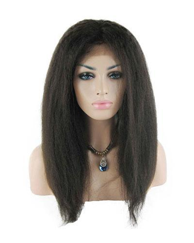 """18"""" 2# Kinky Straight Lace Front Wig"""