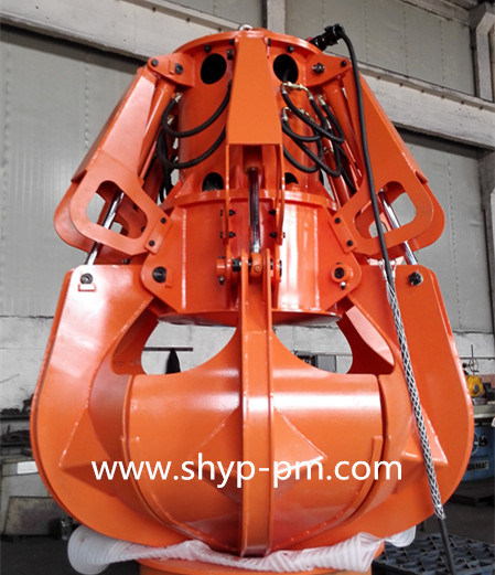 Motor Hydraulic Orange Peel Grab with Ce