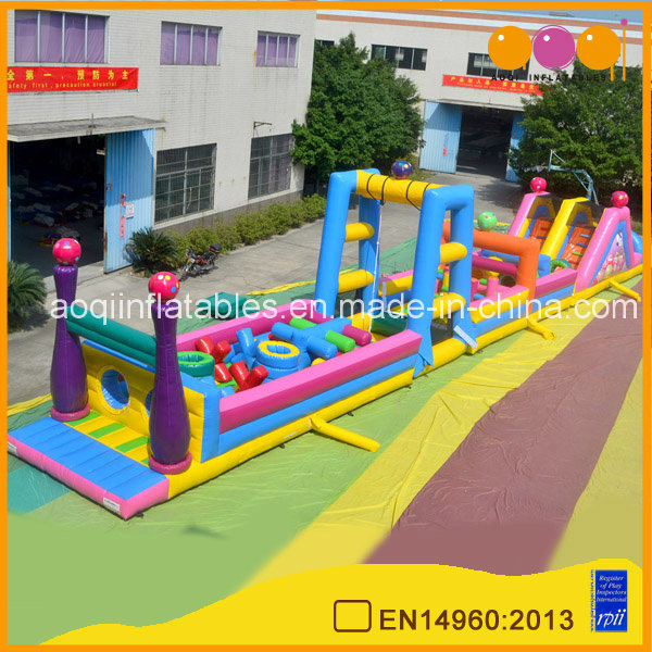 Indoor Sport Game Long Inflatable Obstacle Course Race for School (AQ01182-2)