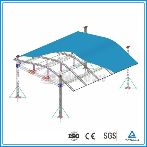 Arched Roof Truss Aluminum Spigot Box Truss