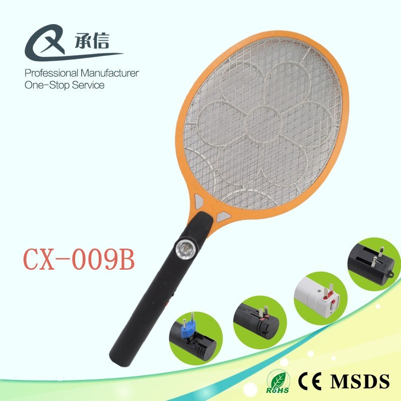 Hot Seller Big Net Rechargeable Mosquito Swatter, Electric Anti Insect Bug Trap Racket LED