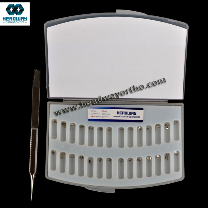 Dental Material Orthodontic Headway Self Ligating Metal Bracket Ce FDA ISO13485