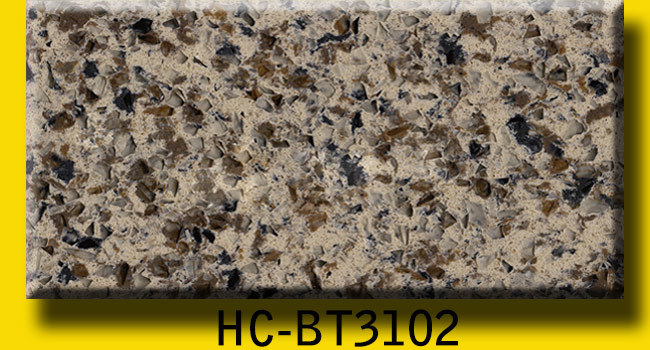 Calacatta Colorful Artificial Quartz Countertops
