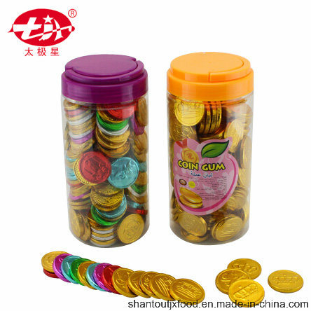 Cylindrical Plastic Bottle Coin Bubble Gum