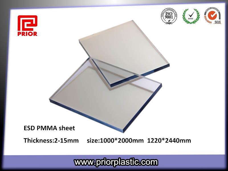 Anti-Static PMMA Plexiglass Sheet with 1000X2000mm