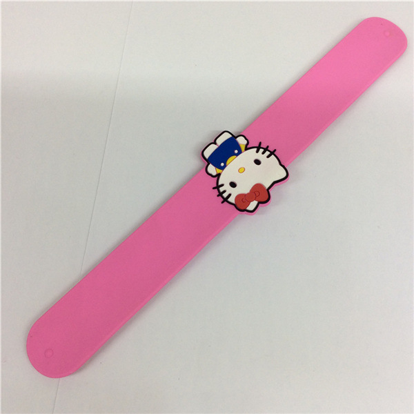 Eco-Friendly Cute Slap Silicone Customizable Wristband