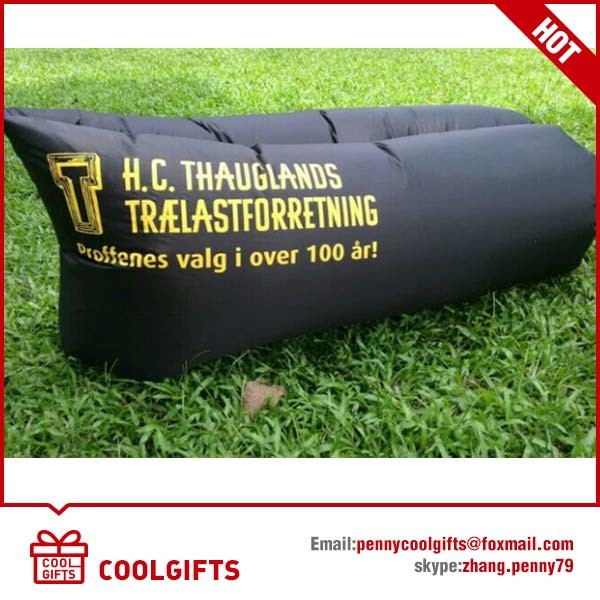 Lazy Nylon Foldable Inflatable Air Sleeping Sofa Bed for Camping