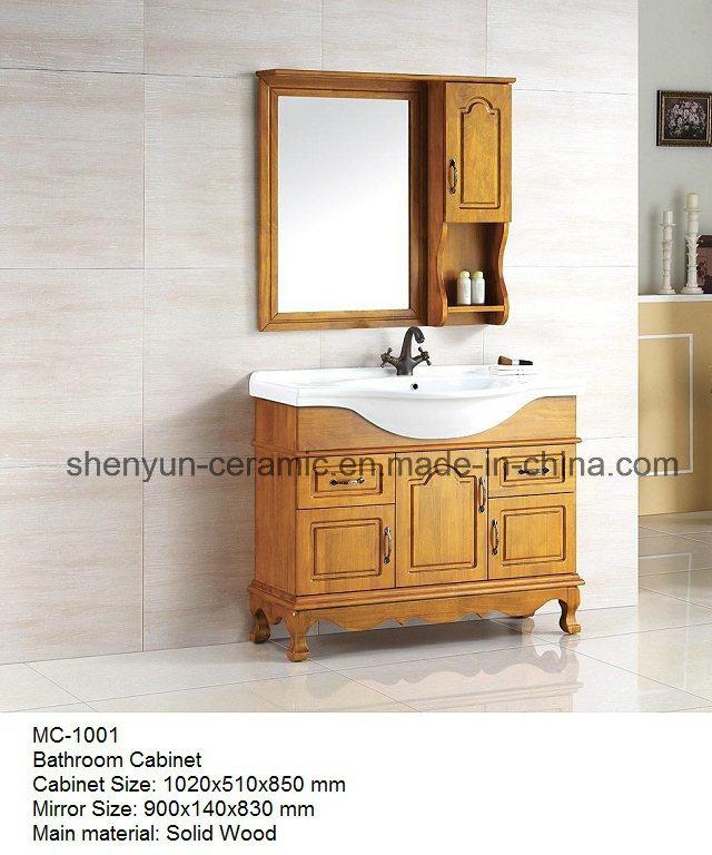 Bathroom Furniture Bathroom Cabinet with Ceramic Wash Basin (MC-1001)