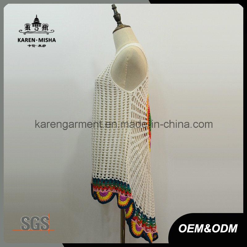 Sleeveless Handmade Crochet Cardigan Vest Fashion