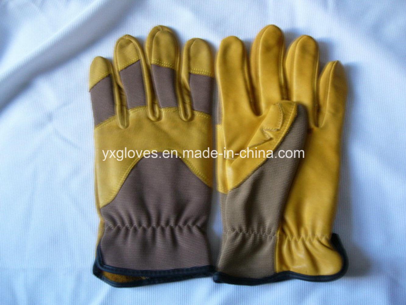 Mechanic Glove -Cow Leather Glove-Working Glove-Safety Glove-