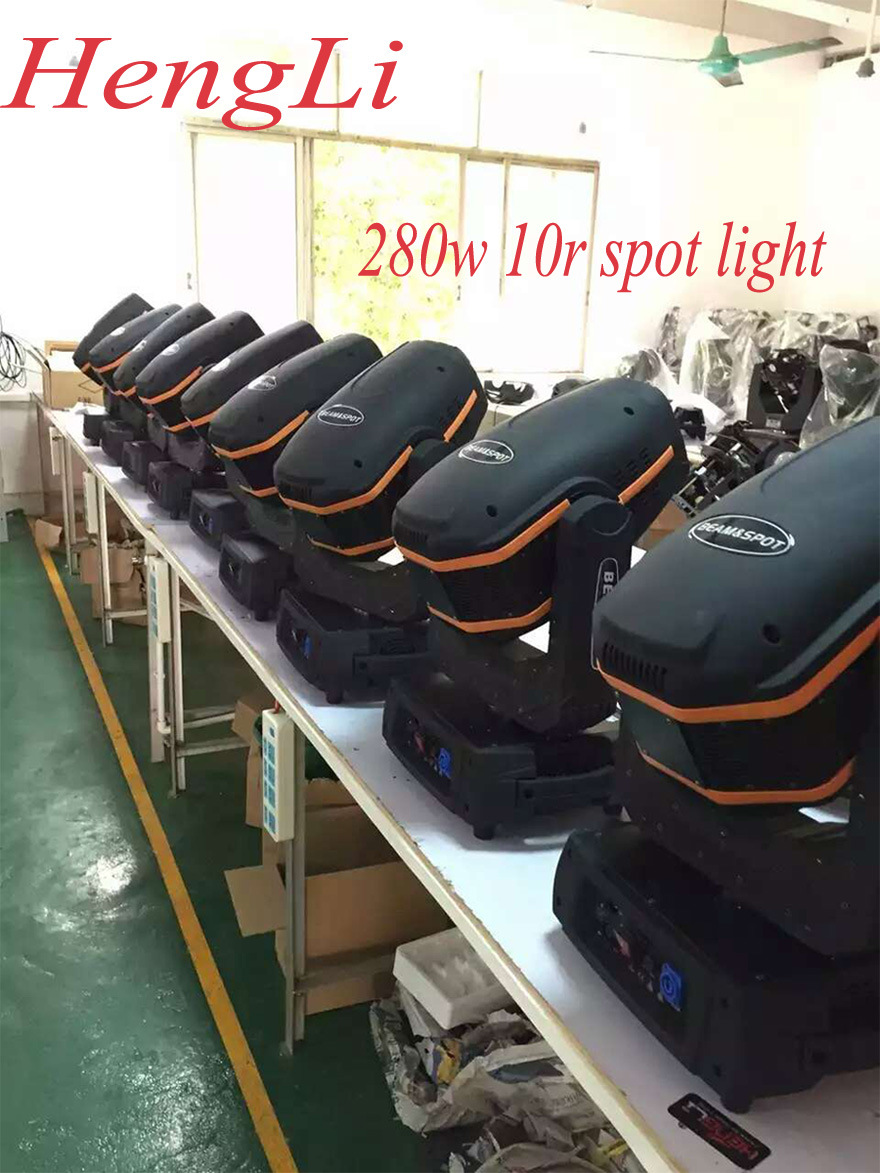 Sharpy 280W 10r Moving Head Spot Light with Pattern Zoom Function for Disco DJ Club (HL-280ST)