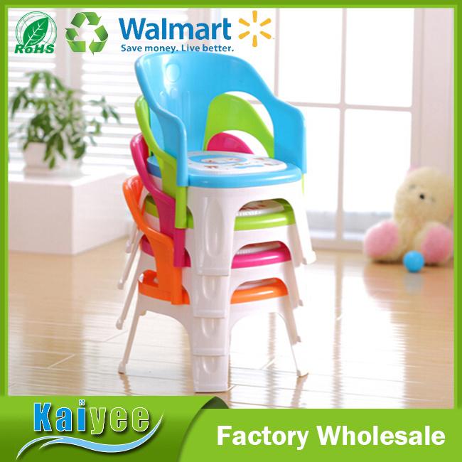 Wholesale Custom Fashion Colorful Plastic Kid Backrest Chair