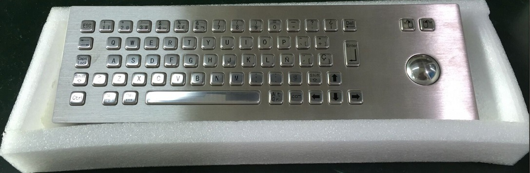 IP65 Stainless Steel Metal Keyboard-Kiosk Component (KMY299B-1)