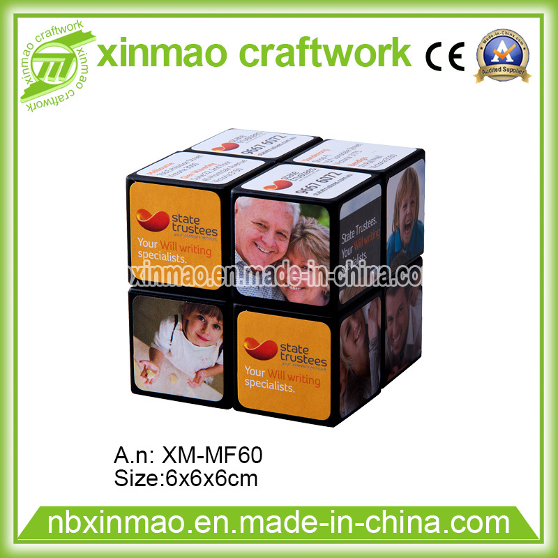 6cm 2 Layers Magic Cube with Full Color Logo for Promo
