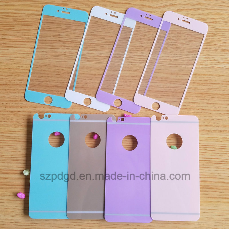 Hot Sales Shimmering Tempered Glass Both Sides Screen Protector for iPhone 6/6s in Stock