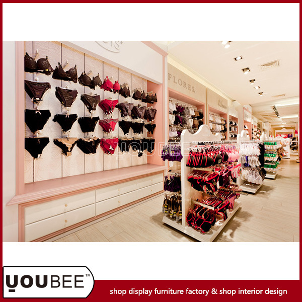 Whole Ladies′ Lingerie Display Stands and Slatwall for Shopping Mall From Factory