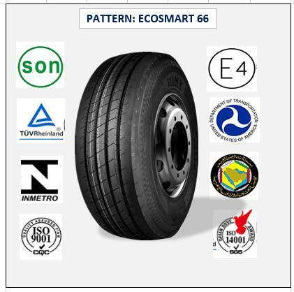 385/55r22.5 (ECOSMART 66) with Europe Certificate (ECE REACH LABEL) High Quality Truck & Bus Radial Tires